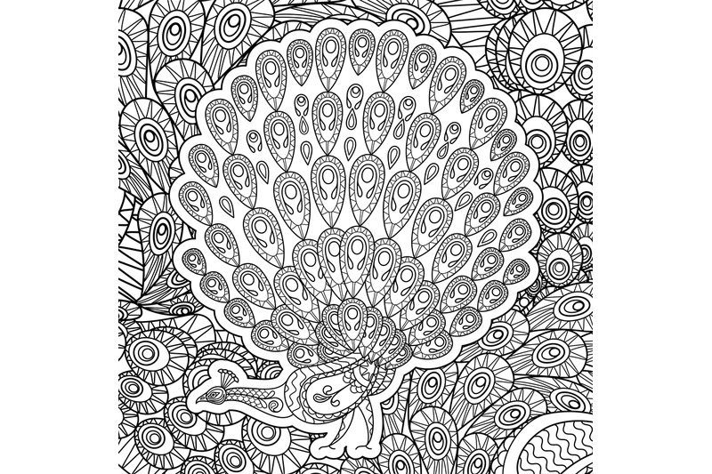 coloring-page-for-adults-with-peacock