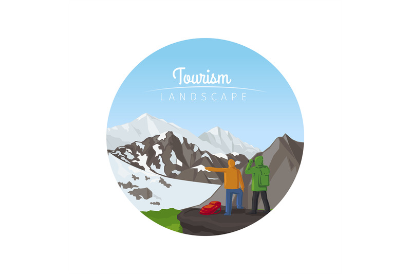 tourism-landscape-with-mountains-circle-icon
