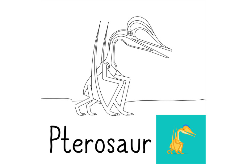 coloring-page-for-kids-with-pterosaur
