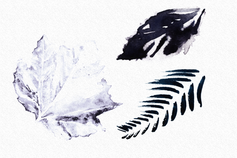 set-of-18-watercolor-handpainted-leaves-hq-png-files