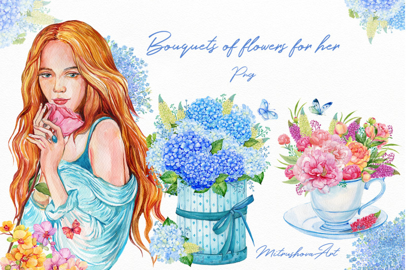 watercolor-flower-bouquets-in-boxes