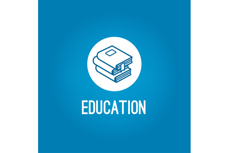 education-logo-with-pile-of-book
