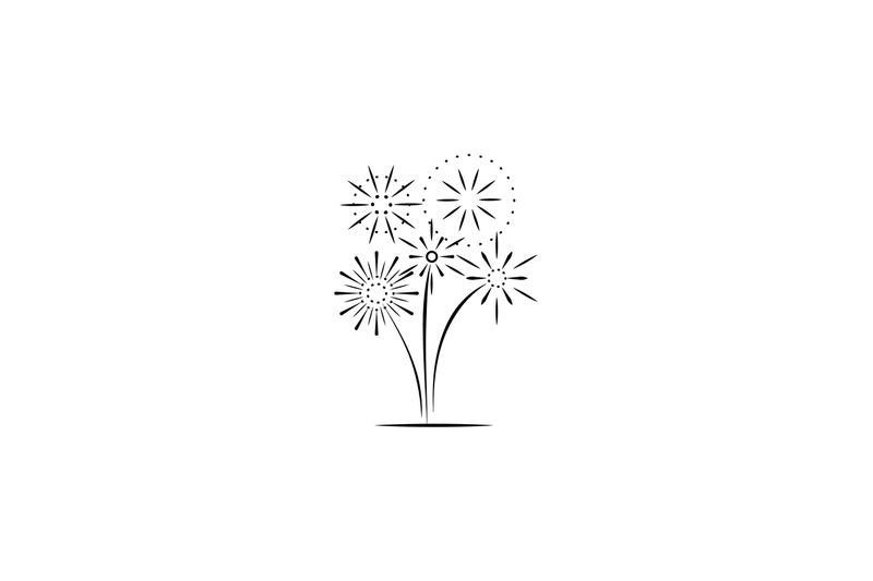 firework-company-line-logo-design
