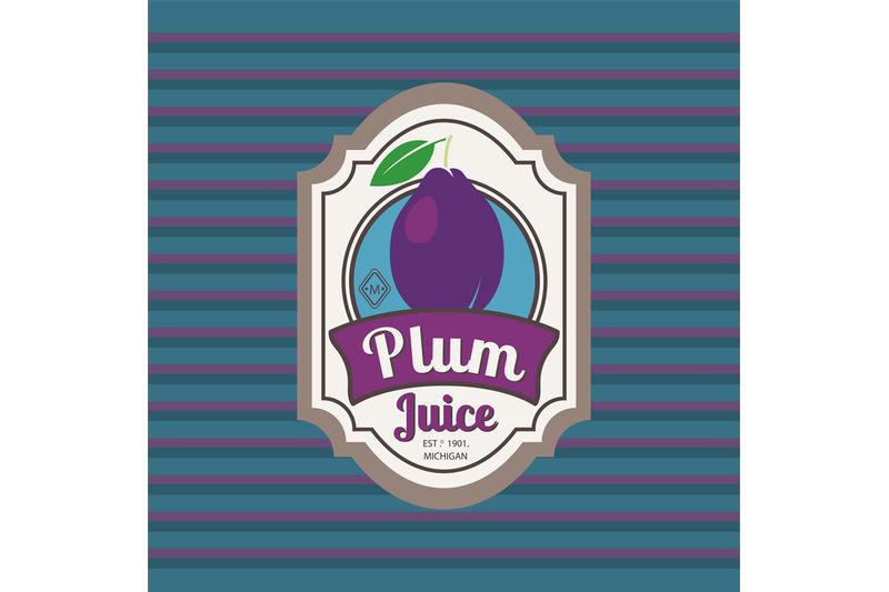 plum-juice-retro-fruit-label