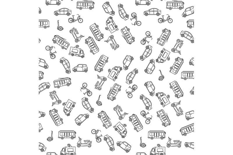 ground-transportation-monochrome-seamless-pattern
