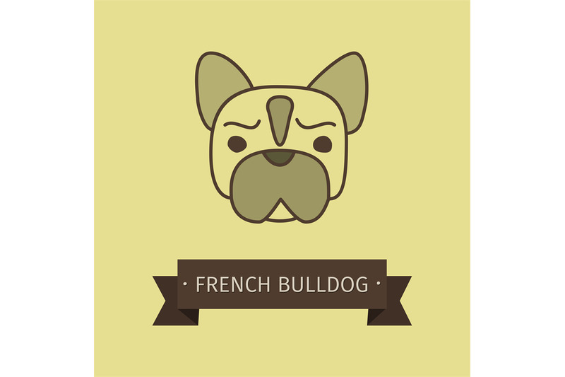 french-bulldog-breed-dog-for-logo