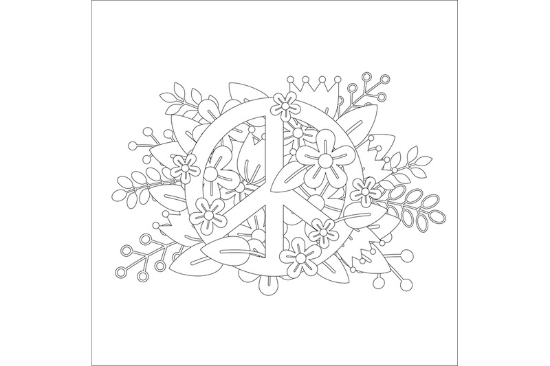 coloring-page-design-with-peace-symbol