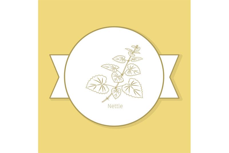 nettle-medicine-plant-yellow-label