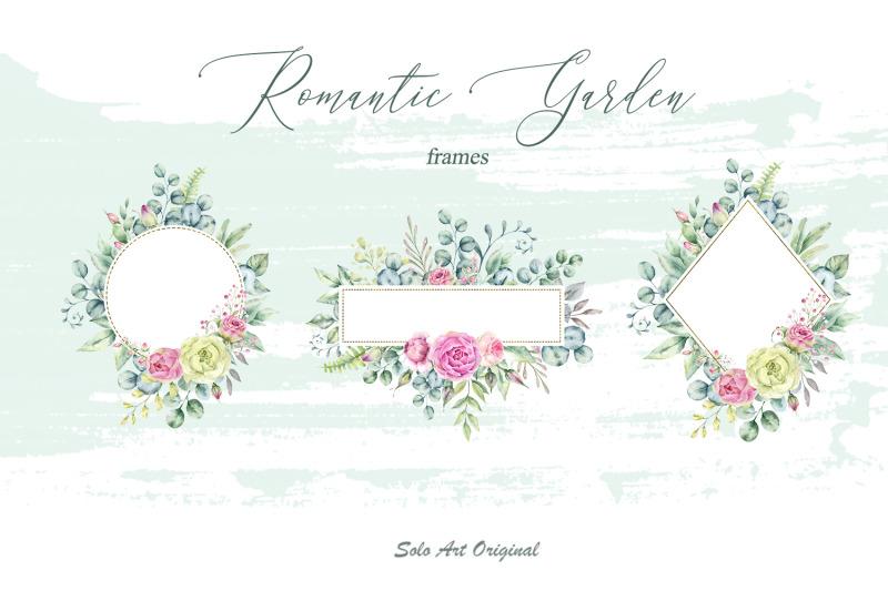romantic-garden-watercolor-clipart-collection