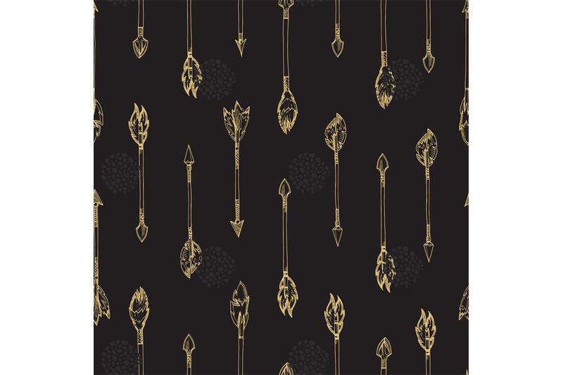 gold-arrows-seamless-pattern-doodle-arrows