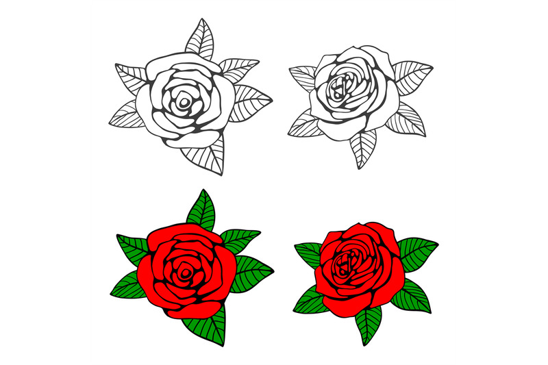 hand-drawn-roses-coloring-page