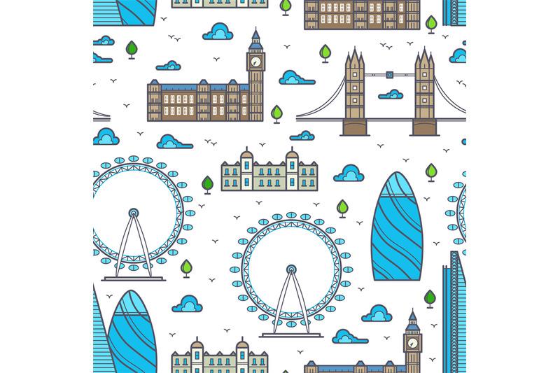 line-london-bridges-skylines-and-sights-seamless-pattern