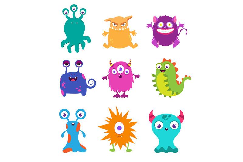 cartoon-funny-monsters-vector-set-for-t-shirt-design