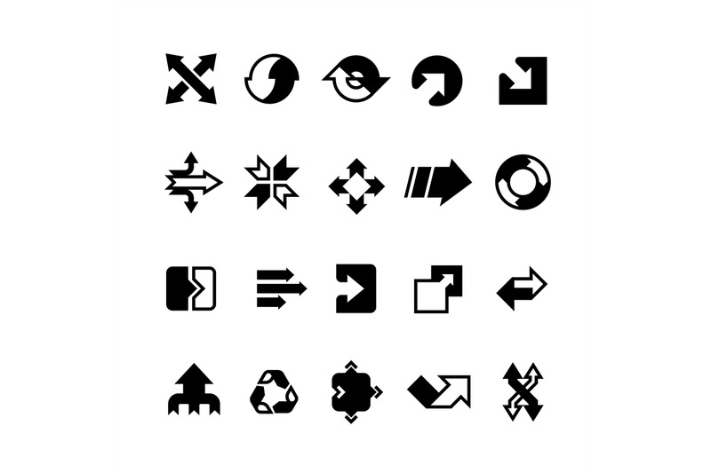 complex-business-transition-transform-arrows-and-paths-vector-icons