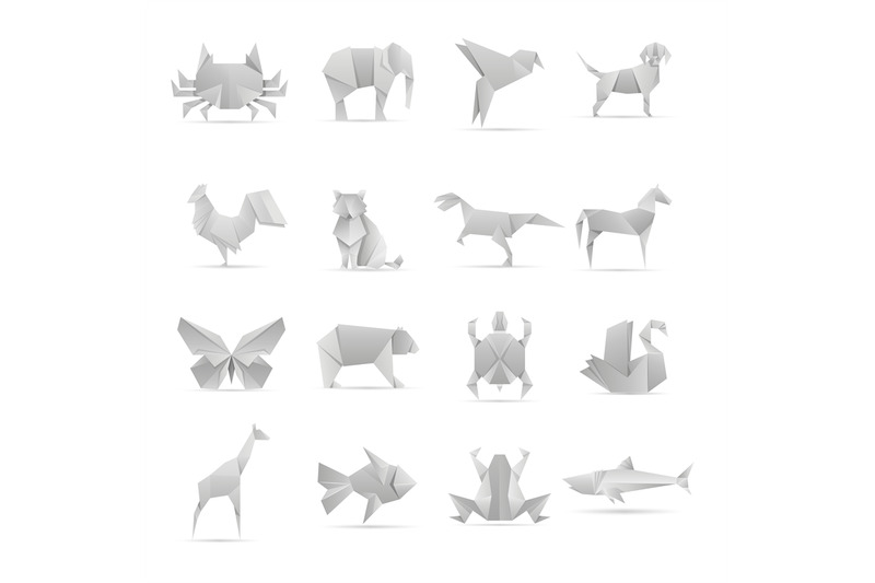 asian-creative-origami-animals-vector-collection