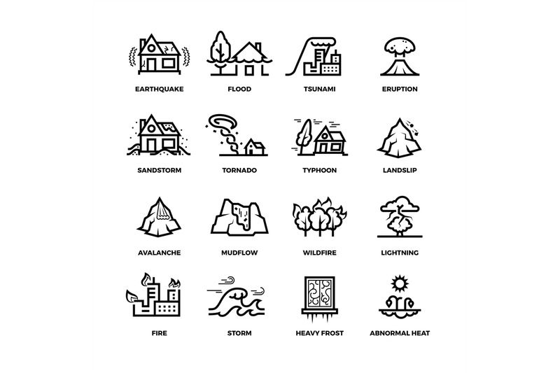 natural-disaster-accidents-line-vector-icons-and-damage-symbols