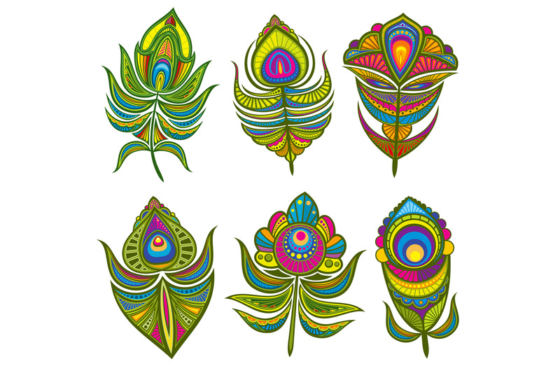 decorative-ethnic-peacock-feathers-vector-set-isolated