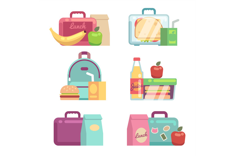 kids-snacks-school-lunch-boxes-vector-set