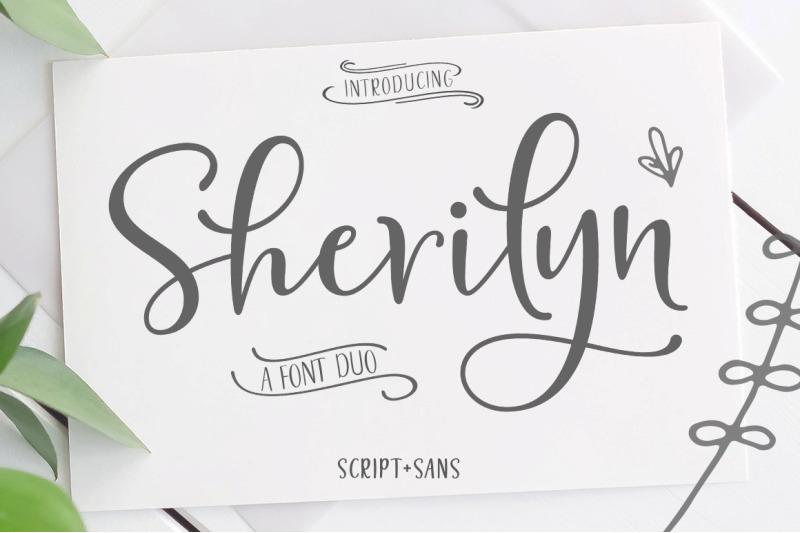 sherilyn-script-font-duo