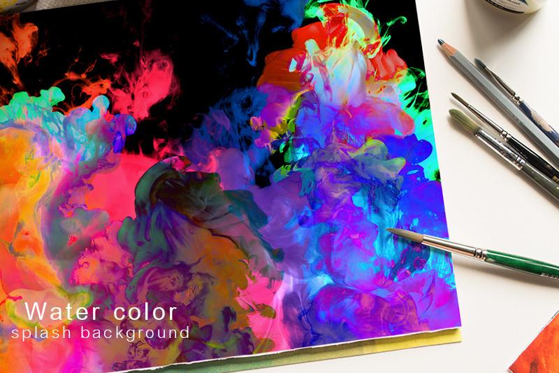 water-color-splash-background