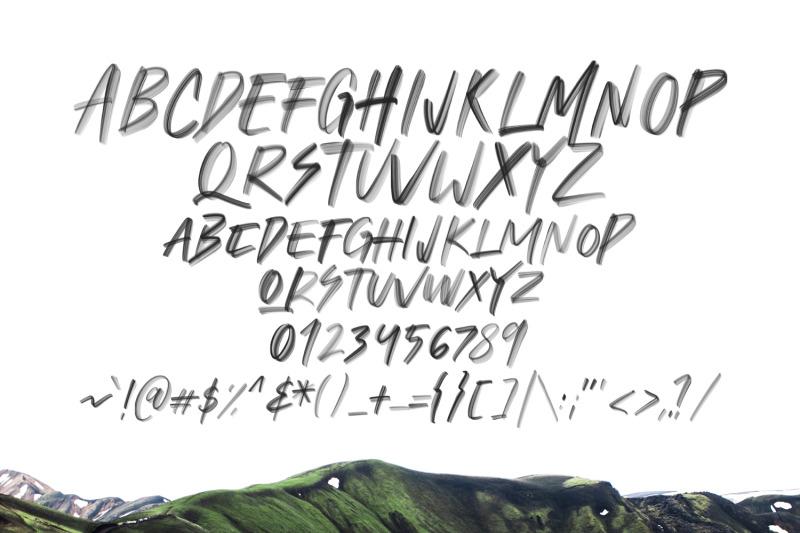 flohart-svg-brush-font