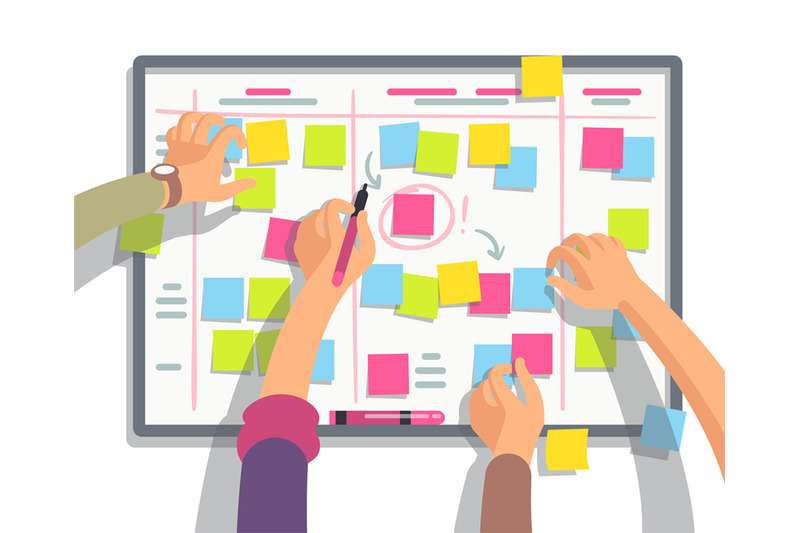 developers-team-planning-weekly-schedule-tasks-on-task-board-teamwork