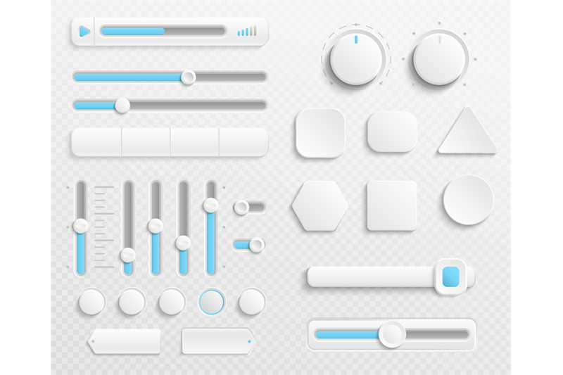 white-web-buttons-and-ui-sliders-vector-set-isolated-on-transparent-ba