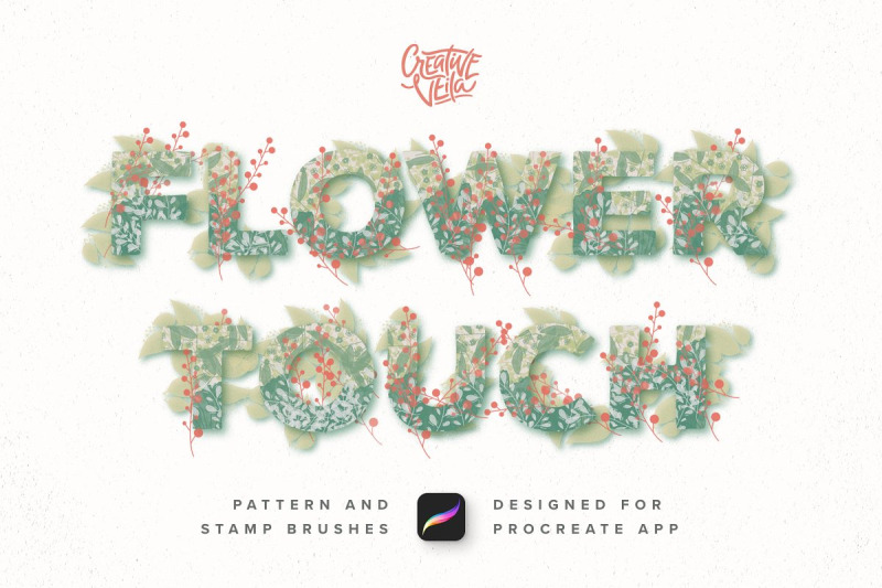 Free Flower Touch Procreate Brushes (PSD Mockups)