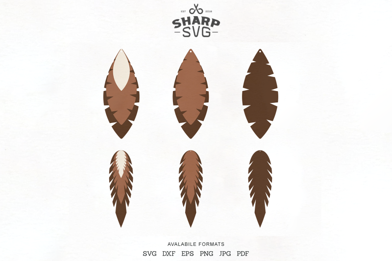 feather-earrings-svg-leather-earrings-cutting-templates