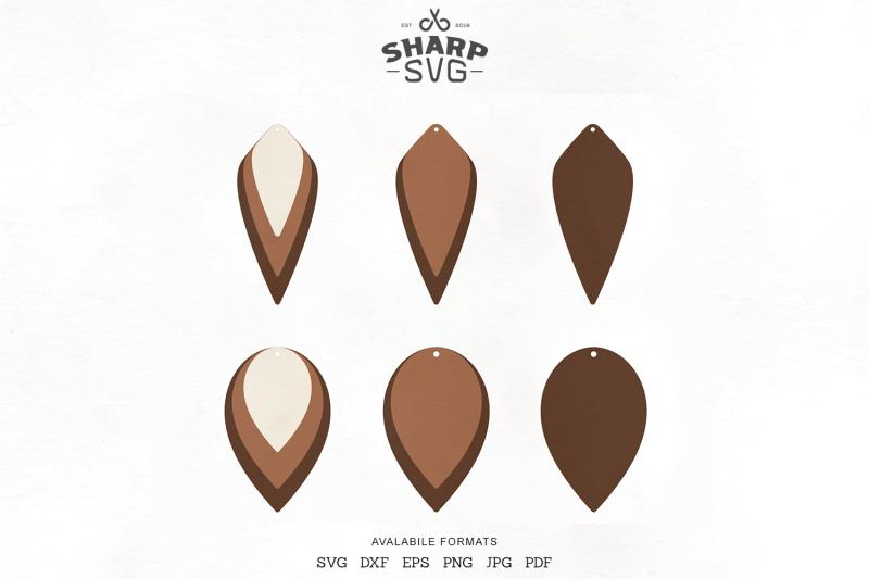 stacked-earrings-svg-teardrop-leather-earrings-template