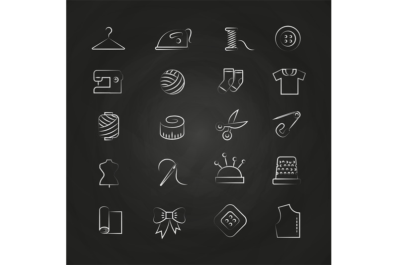 hand-drawn-linear-fabric-sewing-tailor-knitting-icons
