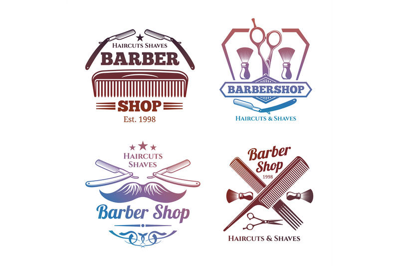bright-barber-shop-emblems-men-haircute-salon-labels-design