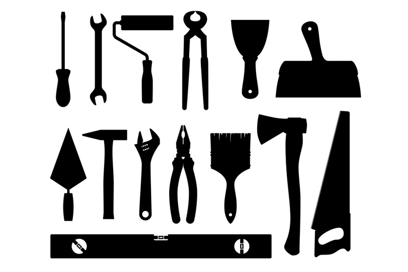 construction-tools-vector-black-silhouettes-isolated-on-white-backgrou