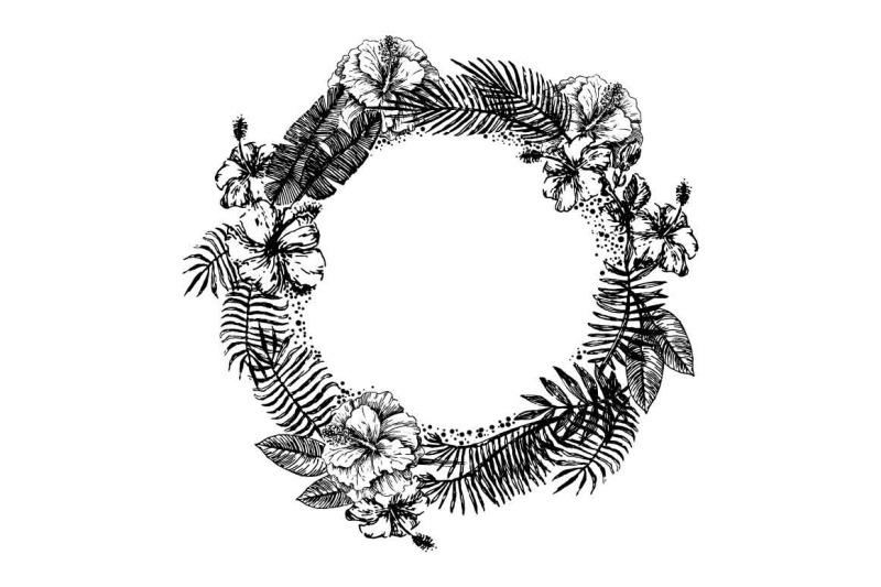 tropical-leaves-illustration-set