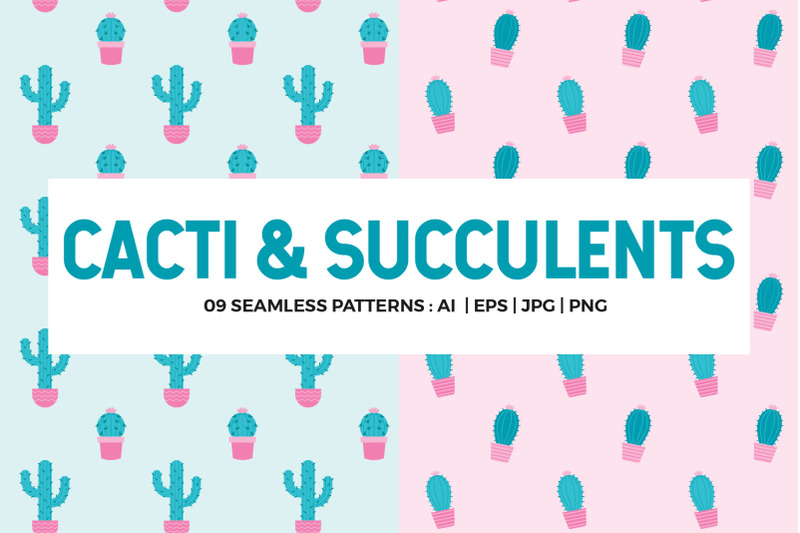 cactus-seamless-patterns-collection