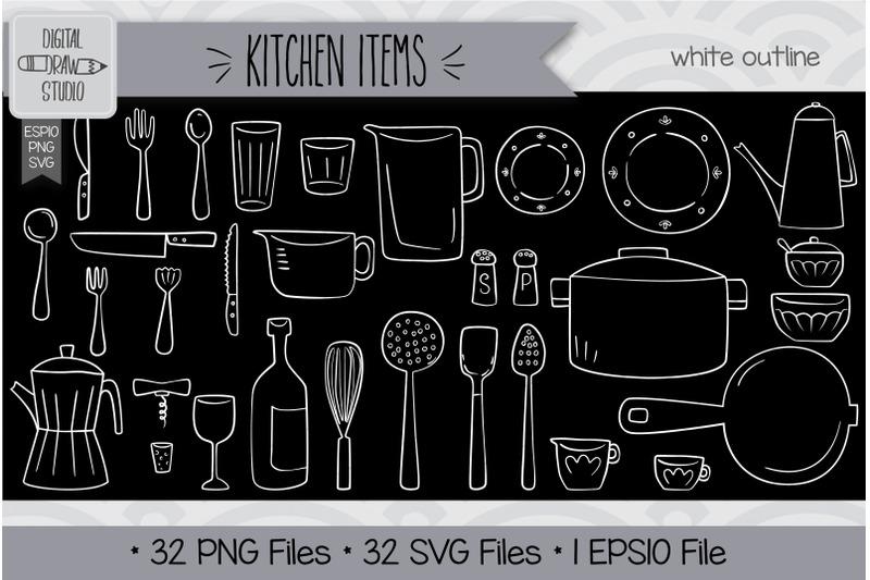 192-kitchen-items-hand-drawn-illustrations-bundle