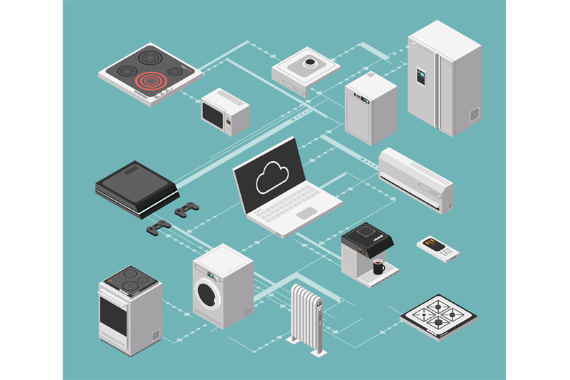 smart-house-and-electrical-control-isometric-concept-with-domestic-app
