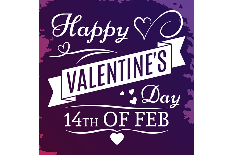 happy-valentines-day-banner-on-grunge-colorful-back