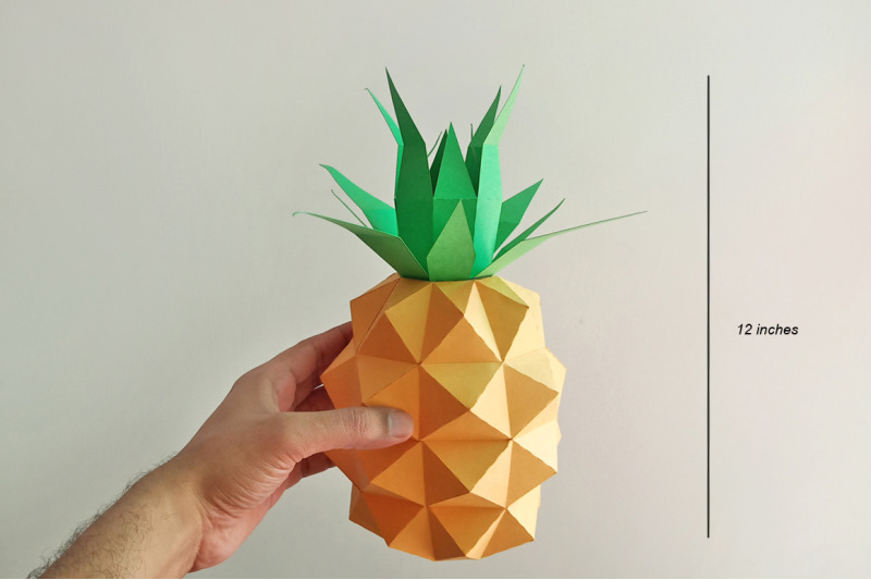 diy-pineapple-model-3d-papercraft