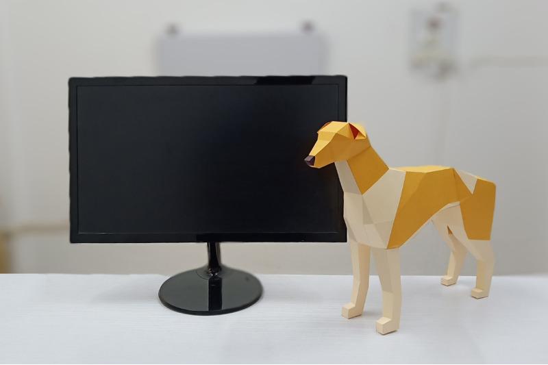 diy-greyhound-dog-3d-papercraft