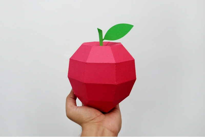 diy-apple-model-3d-papercraft