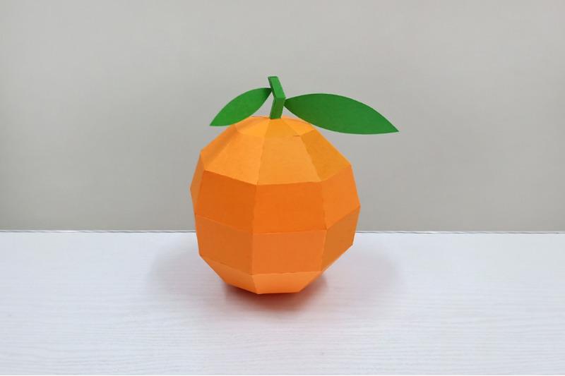 diy-orange-model-3d-papercraft
