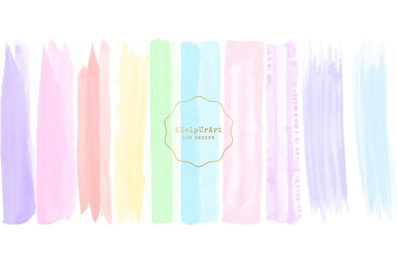 unicorn-clipart-watercolor-brush-strokes