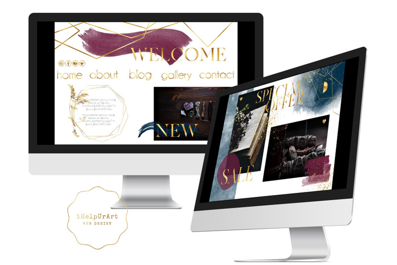 navy-and-burgundy-watercolor-design-bundle