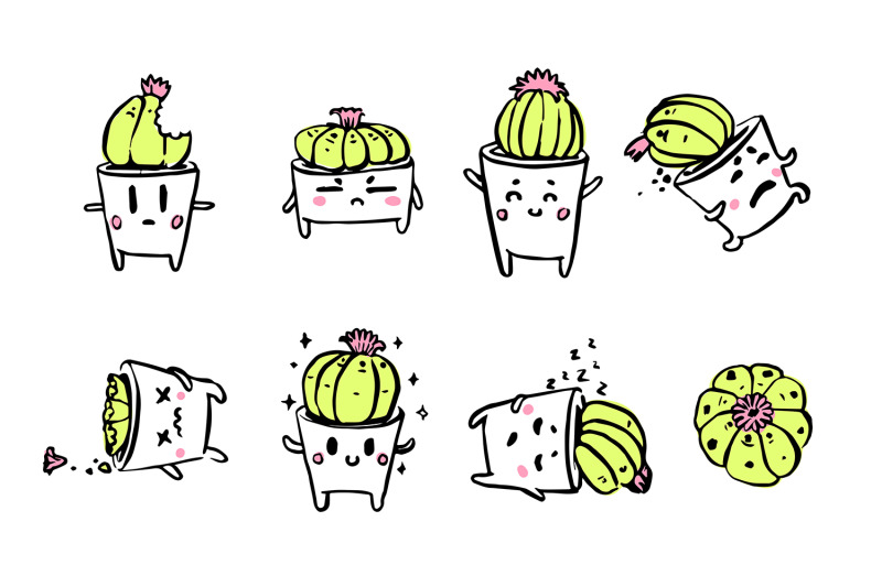 cute-cacti-character-emotions-set-nbsp