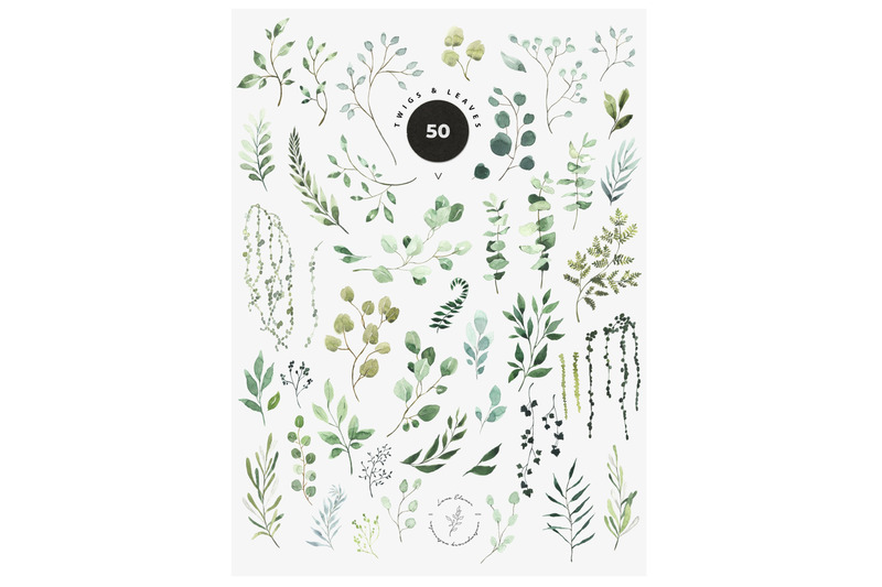 just-green-watercolor-greenery-leaves-foliage
