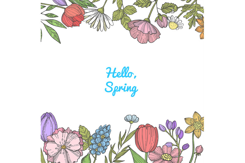 vector-hand-drawn-color-flowers-background-banner