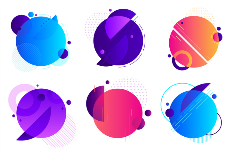 circle-geometric-badges-trendy-round-frame-color-gradients-minimal-b