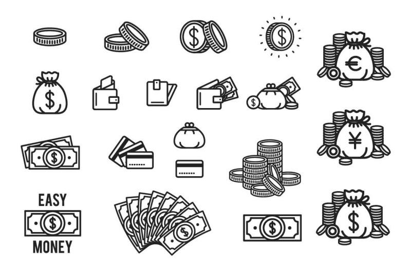 20-money-icon-set