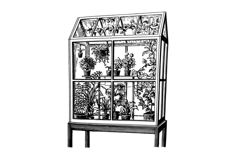 houseplants-hand-drawn-sketch-set